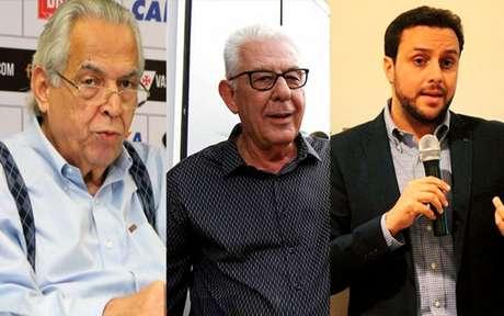 Eurico, Horta e Brant vão administrar o clube Fotos: Paulo Fernandes/Vasco, Divulgação/Vitor Brügger e Divulgação)