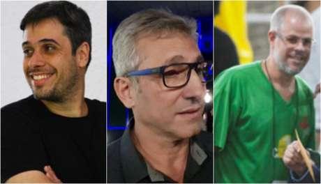 Euriquinho, Alexandre Campello e Roberto Monteiro articulam conversas para o Conselho (Foto: Arte LANCE!)