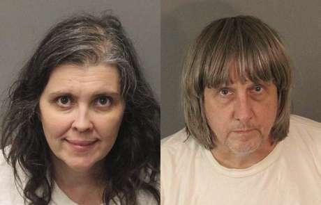 Louise Anna Turpin e David Allen Turtpin foram presos por manterem os filhos em cárcere privado