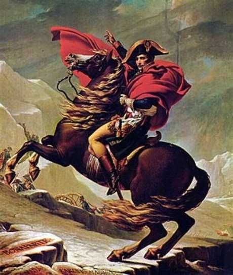 Napoleão cruzando os alpes ( L.David, 1801-05)
