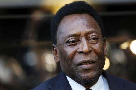 Tricampeão mundial Pelé participa de evento em Nova York, Estados Unidos 19/04/2016 REUTERS/Andrew Kelly