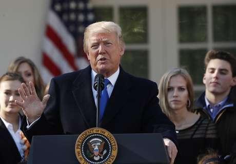 Presidente dos EUA, Donald Trump, discursa em Washington 19/01/2018 REUTERS/Kevin Lamarque