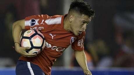 Barco fez o gol do Independiente na final da Sul-Americana contra o Flamengo, no Maracanã (Foto: AFP)