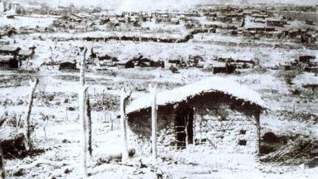 Arraial miserável do interior da Bahia resistiu a três expedições militares | Foto: Flávio de Barros/Wikicommons