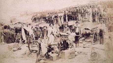 Tropas militares foram trucidadas ao chegar a Canudos | Foto: Flávio de Barros/Wikicommons