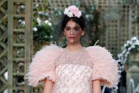 Modele Kaia Gerber durante desfile da Chanel em Paris 23/01/2018 REUTERS/Gonzalo Fuentes