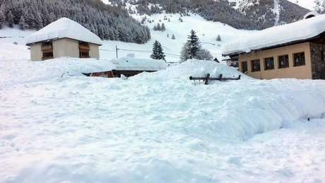 Vallelungha é uma das áreas mais afetadas por nevascas