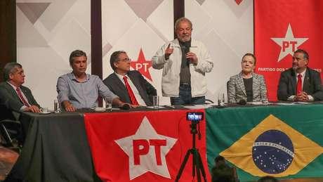 O discurso do PT é de que 'não há plano B' se Lula deixar a corrida eleitoral | foto: Ricardo Stuckert / Instituto Lula