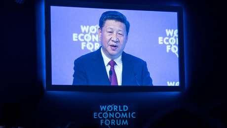 O presidente da China, Xi Jinping, em sessão do Fórum Econômico Mundial em Davos, em 2017 | Foto: Valeriano Di Domenico/Forum Econômico Mundial