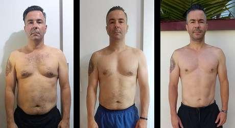 Em 8 meses, Edilson perdeu 28 quilos e reduziu sua gordura corporal a 14%.