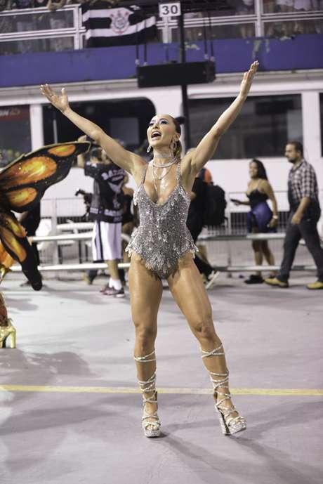 Sabrina Sato no ensaio da Gaviões da Fiel (Fotos: Leo Franco/AgNews)