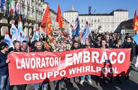 Protesto contra demissões na Embraco
