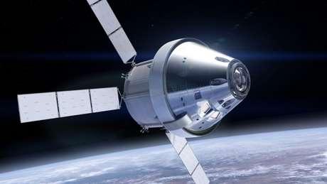 Concepção artística da nave Orion (Reprodução: NASA)