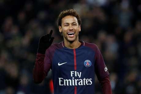 Neymar em jogo do PSG 27/01/2018 REUTERS/Gonzalo Fuentes