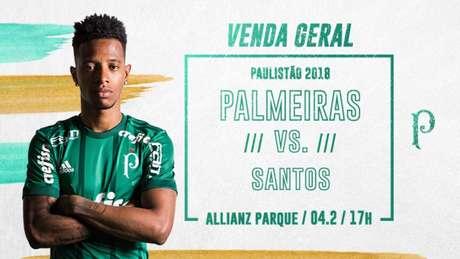 Ingressos já estão à venda para o público em geral - FOTO: Divulgação/Palmeiras