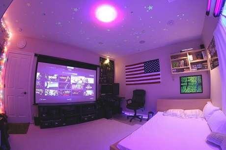 1. Com o planejamento certo, seu quarto também pode ser um quarto gamer dos sonhos