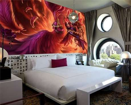 46. Quarto gamer com tema de League of Legends