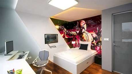 15. Quarto gamer com tema Star Wars
