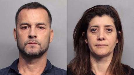 Eduardo Pereira e Marcia Tiago foram detidos pela polícia em Miami | Fotos: Courtesy of Miami-Dade Corrections and Rehabilitation Department