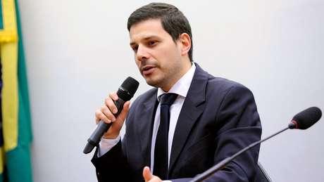 Delegado Raphael Baggio, da PF, foi à Câmara falar sobre as investigações | Foto: Lúcio Bernardo Junior/Ag. Câmara