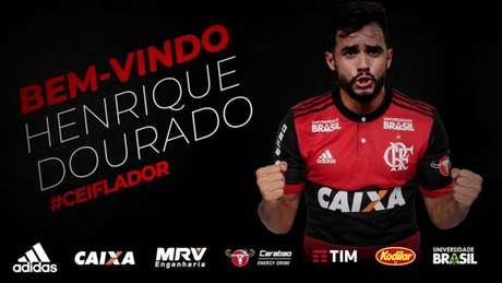 Henrique Dourado é o novo atacante do Flamengo.