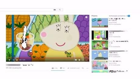 Vídeos que imitam desenhos infantis apresentam conteúdo sexual e violência | Foto: Reprodução/YouTube