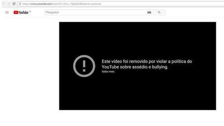 Após contato da BBC Brasil, o YouTube removeu boa parte dos vídeos | Foto: Reprodução/YouTube