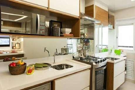 27. Decoração de cozinha planejada simples e pequena