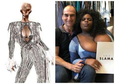 Jojo Toddynho e Amir Slama, com o look do Baile da Vogue (Fotos: Divulgação/Reprodução/Instagram/@amirslama