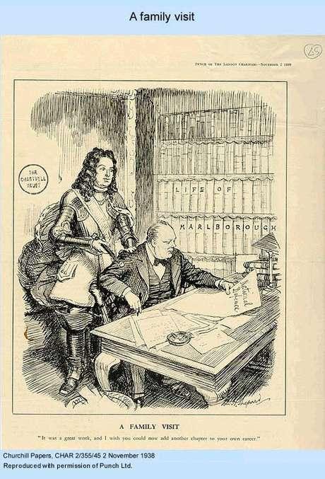 Churchill e seu antepassado ( caricatura)
