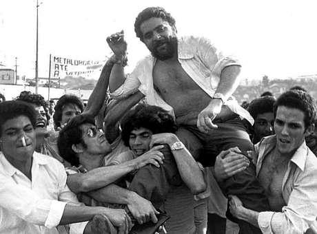Lula no começo de sua carreira política, em março de 1979