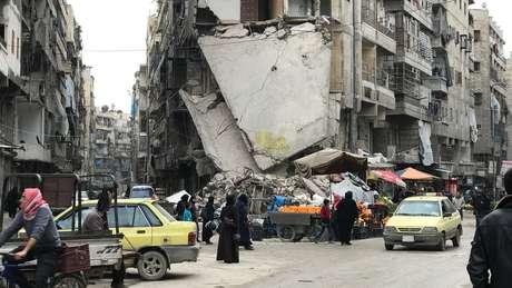 Polo industrial e histórico da Síria, Aleppo é uma das cidades mais atingidas pela guerra civil ainda em curso na Síria