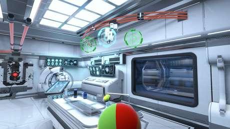 O game de realidade virtual da Neurable permite que jogadores movam objetos apenas com o pensamento | Foto: Neurable/Divulgação