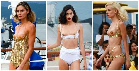 Desfile Amir Slama no Fashion Cruise (Fotos: Eduardo Martins/AgNews)