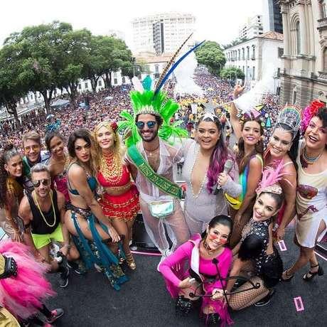 No comando da festa no Rio de Janeiro, Preta Gil teve a companhia de Pabllo Vittar
