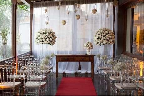 16. Linda decoração para casamento em casa