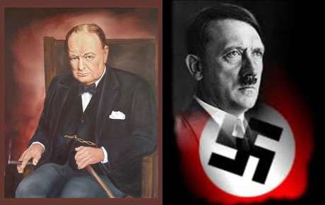 Churchill resistiu a Hitler