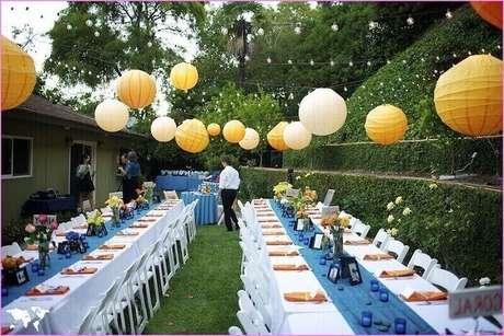 7. O jardim é um excelente local para receber os convidados para quem optou por um casamento em casa.