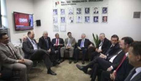 Brasília - Bancada do PTB na Câmara reunida para discutir a situação da deputada Cristiane Brasil, indicada para o Ministério do Trabalho (Wilson Dias/Agência Brasil)