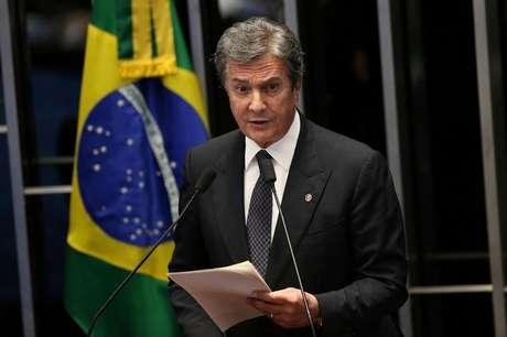 Collor faz discurso no Senado  30/8/2016    REUTERS/Adriano Machado