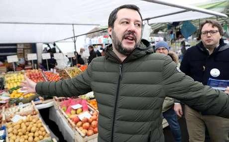 Matteo Salvini é postulante a premier pela Liga Norte