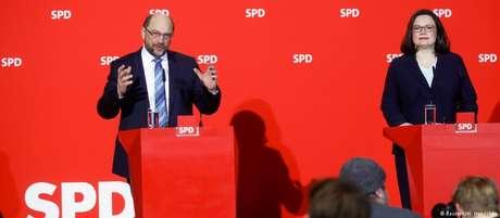 Schulz renuncia à predidência do SPD e indica líder da bancada do partido no Parlamento, Andrea Nahles, para o cargo