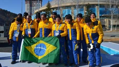 A delegação brasileira já está em PyeongChang, na Coreia do Sul, para a disputa dos Jogos de Inverno.