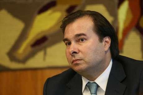Rodrigo Maia, presidente da Câmara dos Deputados, durante reunião em Brasília, no Brasil 17/10/2017 REUTERS/Adriano Machado