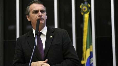 Jair Bolsonaro ocupa o segundo lugar em pesquisas de intenção de voto para as eleições presidenciais | Foto: Ag. Câmara