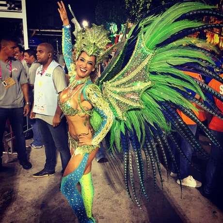 Samantha se apaixonou pelo Rio e pelo Carnaval | Foto: Arquivo pessoal