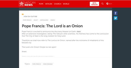 Falha de segurança permitia criação de notícias falsas no site do Vaticano (Reprodução: The Next Web)