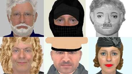 No Reino Unido, os esboços de suspeitos são chamados de e-fit e, às vezes, parecem edições desastradas no computador