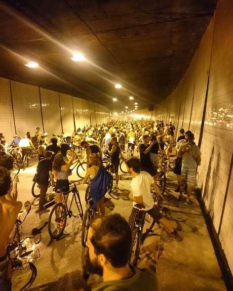 Bloco da Bicicletinha fez a festa nas ruas de Belo Horizonte