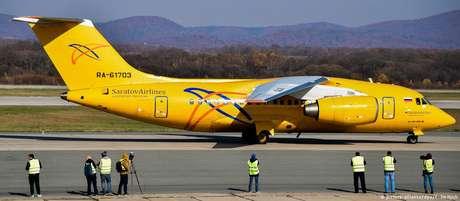 Avião operado pela Saratov Airlines era do modelo AN-148
